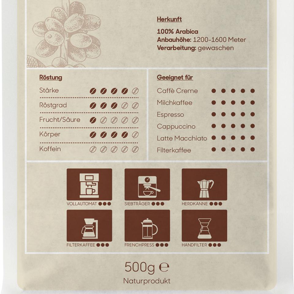 Koffeinfreier Caffè, hausgeröstet - gemahlen