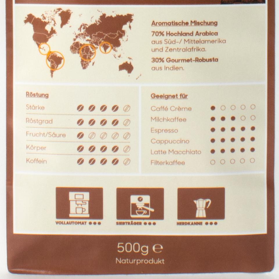 Aus unserer hauseigenen Rösterei: Probieraktion 1x 500g Caffè Creme + 1x 500g Espresso zum Aktionspreis!