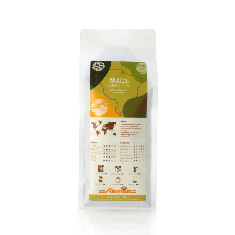 Länderspezialitäten - Brazil - Caffè Creme, hausgeröstet