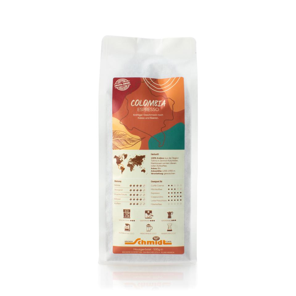Länderspezialitäten - Colombia - Espresso, hausgeröstet