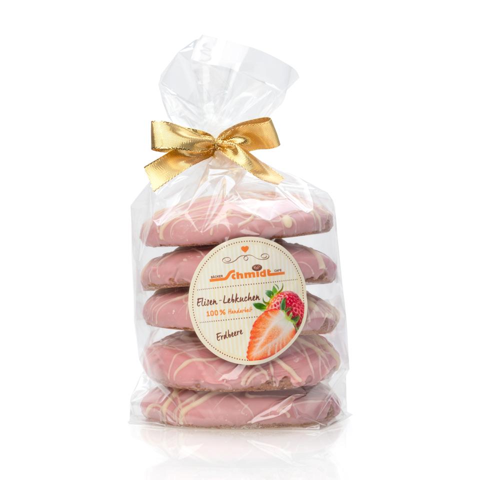 5er Elisenlebkuchen - Spezial Erdbeere - 5 Stück