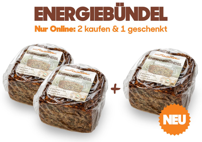 "Brot ohne Mehl: unsere Energiebündel-Aktion ""2+1"""