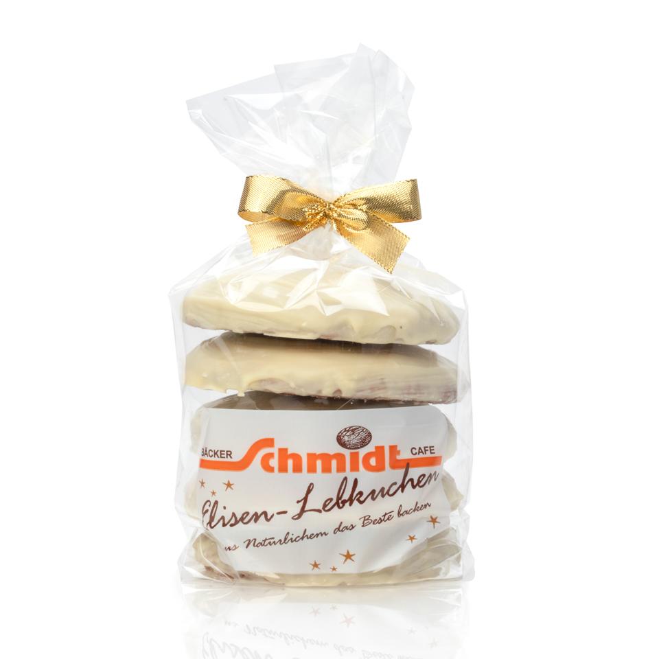 5er Elisenlebkuchen - Weiße Pralinenschokolade - 5 Stück